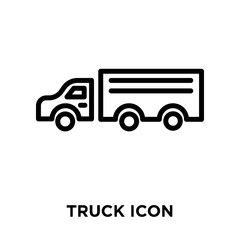 Truck icon vector isolated on white background, Truck sign , linear symbol and stroke design elements in outline style