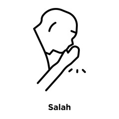 Salah icon vector isolated on white background, Salah sign , thin line design elements in outline style