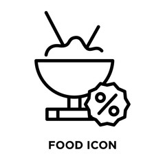 Food icon vector isolated on white background, Food sign , line symbol or linear element design in outline style