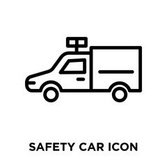safety car icon on white background. Modern icons vector illustration. Trendy safety car icons