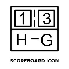 scoreboard icon on white background. Modern icons vector illustration. Trendy scoreboard icons