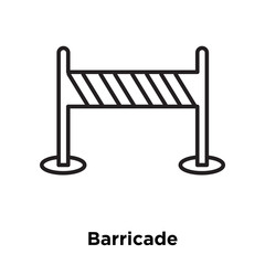 barricade icon isolated on white background. Simple and editable barricade icons. Modern icon vector illustration.