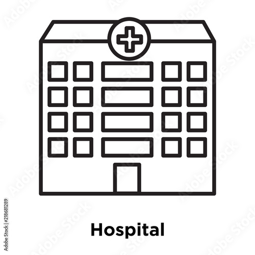Hospital Icon Vector Isolated On White Background Hospital Sign