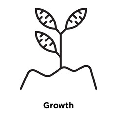 growth icon isolated on white background. Simple and editable growth icons. Modern icon vector illustration.