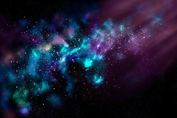 Space bright fantasy abstract background