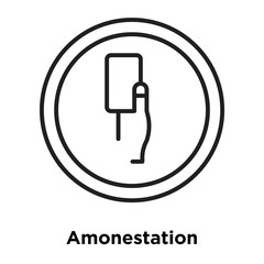 Amonestation icon vector isolated on white background, Amonestation sign , sign and symbols in thin linear outline style