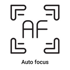 Auto focus icon vector isolated on white background, Auto focus sign , line or linear symbol and sign design in outline style