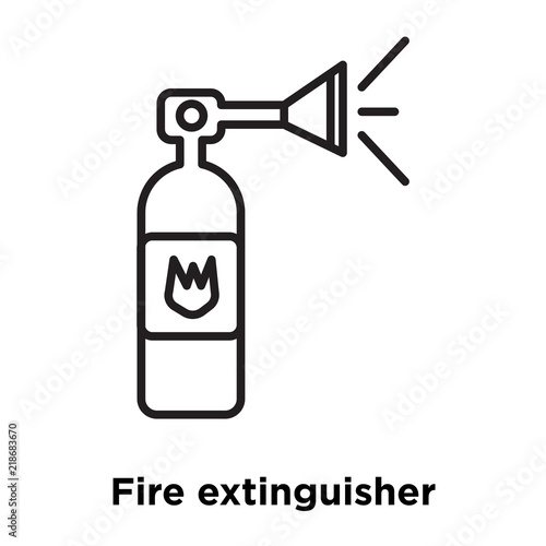 Fire Extinguisher Icon Vector Isolated On White Background Fire