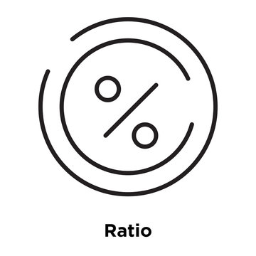 ratio icon isolated on white background. Simple and editable ratio icons. Modern icon vector illustration.