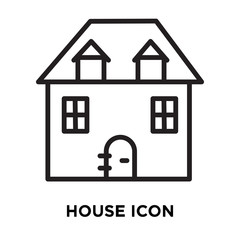 house icon on white background. Modern icons vector illustration. Trendy house icons