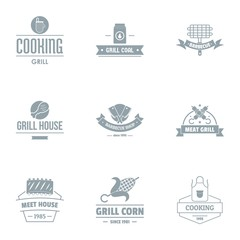 Meal house logo set. Simple set of 9 meal house vector logo for web isolated on white background