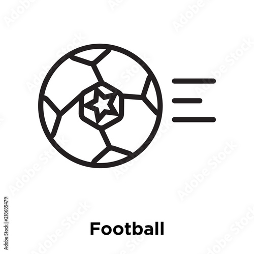 Football Icon Isolated On White Background Simple And Editable