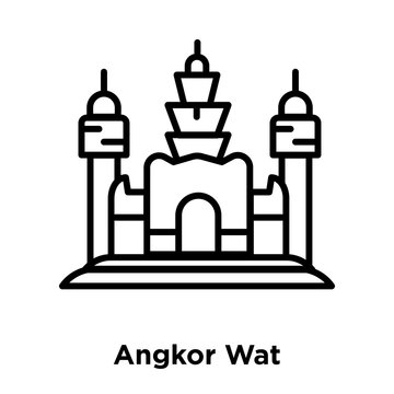 angkor wat icon isolated on white background. Modern and editable angkor wat icon. Simple icons vector illustration.