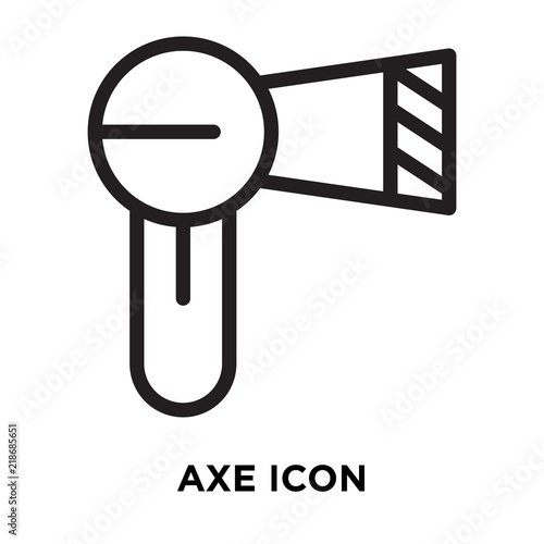Axe Icon Vector Isolated On White Background Axe Sign Line Symbol