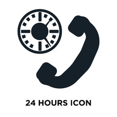 24 hours icon on white background. Modern icons vector illustration. Trendy 24 hours icons