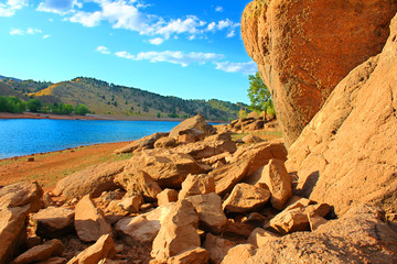 Wall Mural - Horsetooth Reservoir County Park Colorado