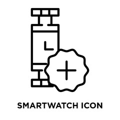 Smartwatch icon vector isolated on white background, Smartwatch sign , line symbol or linear element design in outline style