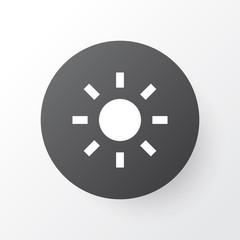 Brightness icon symbol. Premium quality isolated shine element in trendy style.
