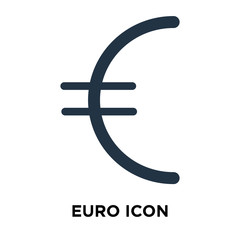Euro icon vector isolated on white background, Euro sign