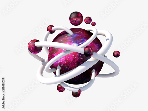 3d render space element  Fantasy abstract art object