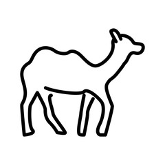 Camel icon vector isolated on white background, Camel sign