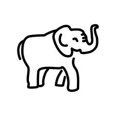 Elephant icon vector isolated on white background, Elephant sign