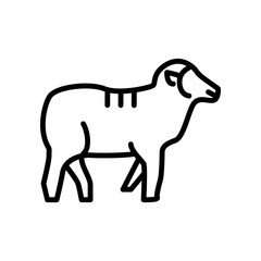 Sheep icon vector isolated on white background, Sheep sign