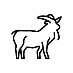 Goat icon vector isolated on white background, Goat sign