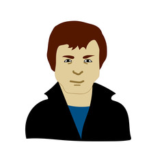Man face icon vector illustration graphic design, man avatar icon
