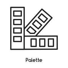 Palette icon vector isolated on white background, Palette sign , line or linear design elements in outline style