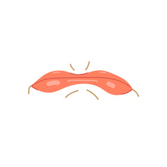 Mouth expressions vector, cute cartoon facial gestures with pouting lips smiling sticking out tongue illustration