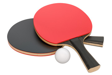 Table tennis equipment, 3D rendering