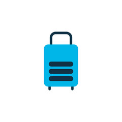 Suitcase icon colored symbol. Premium quality isolated luggage element in trendy style.