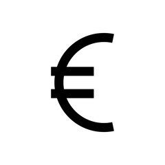 euro sign icon. Element of web icon for mobile concept and web apps. Thin line euro sign icon can be used for web and mobile