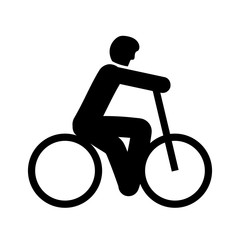 Bicycle icon vector isolated on white background, Bicycle sign