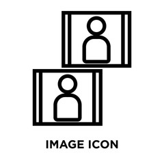 image icons isolated on white background. Modern and editable image icon. Simple icon vector illustration.