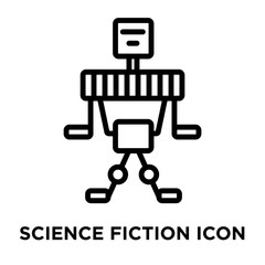 Science fiction icon vector isolated on white background, Science fiction sign , linear and stroke elements in outline style