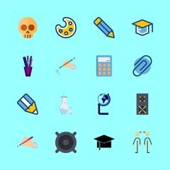 16 education icons set