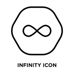 Infinity icon vector isolated on white background, Infinity sign , line and outline elements in linear style