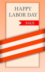 Labor happy day sale concept background. Realistic illustration of labor happy day sale vector concept background for web design