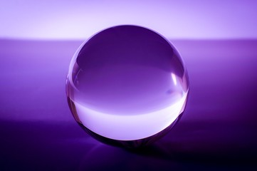 Violet or purple glass ball