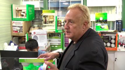 Businessman Larry Sloven speaks in Hong Kong