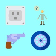 technology icons set. cheerful, drive, lobby and equipment graphic works