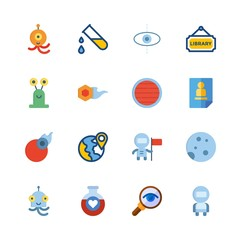 science icons set. orbiting, research, pharmaceutical and drug graphic works