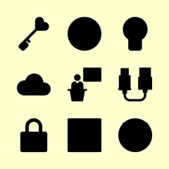 business icons set. education, north, men and motivation graphic works