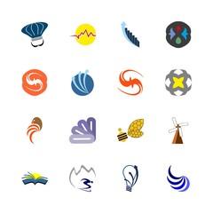 logo icons set. image, read, drip and semi precious stones graphic works