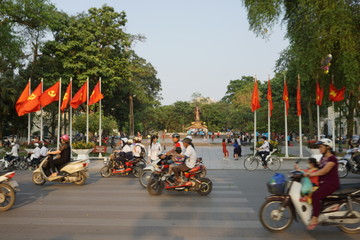 ベトナム ハノイ 街並み
