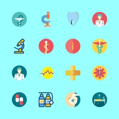 hospital vector icons set. info, oxygen tank, ophthalmology and band aid in this set