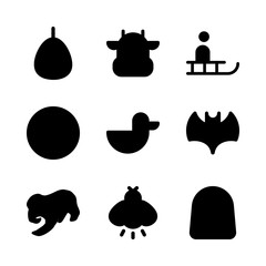9 animal icons set