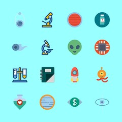 16 science icons set
